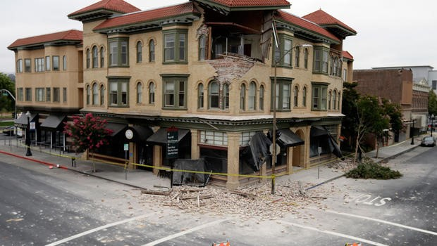 Devastation after the 2014 Napa, CA earthquake